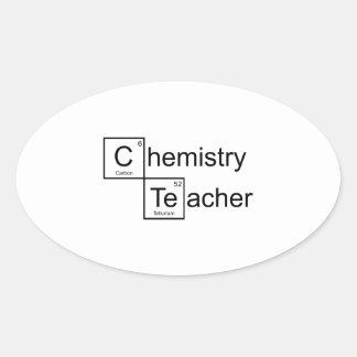 Chemistry Teacher Oval Sticker