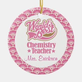 Chemistry Teacher Personalized Gift Ornament