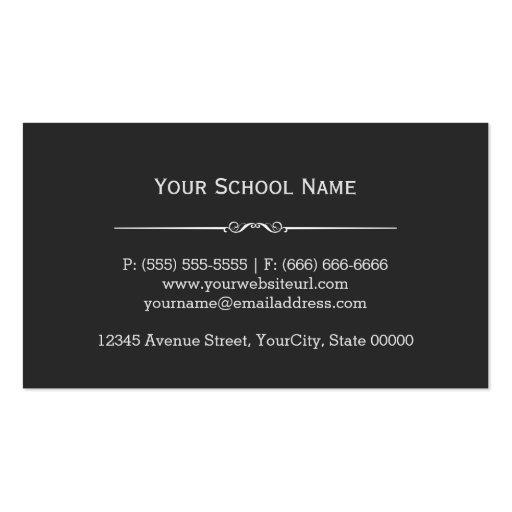 Chemistry Teacher Stylish Chemical Formula Pattern Business Cards (back side)