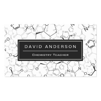 Chemistry Teacher Stylish Chemical Formula Pattern Double-Sided Standard Business Cards (Pack Of 100)
