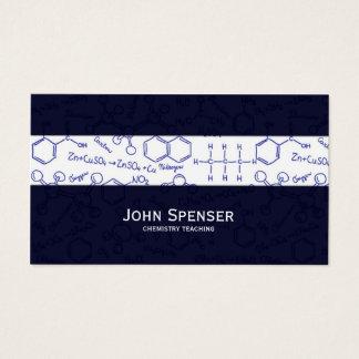 Chemistry Teaching Tutor Blue Business Card