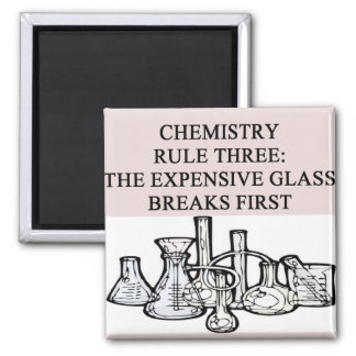 chemistry: the epensive glass breaks first 2 inch square magnet