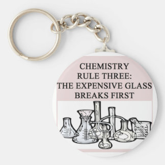 chemistry: the epensive glass breaks first keychain