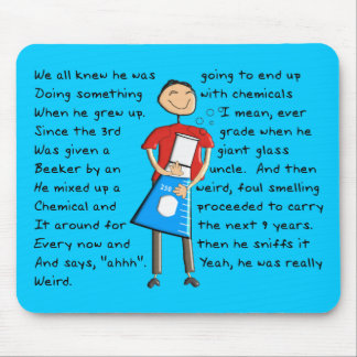 """Chemistry """"The Giant Beeker"""" Guy Hilarious Mouse Pad"""