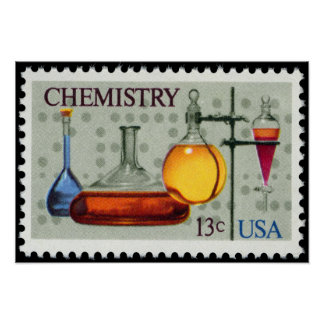 Chemistry~ U.S. Stamp~ American Chemical Society ~ Poster