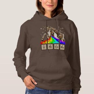 Chemistry unicorn pukes rainbow hoodie