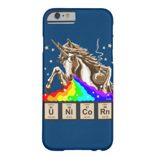 Chemistry unicorn vomits rainbow barely there iPhone 6 case