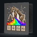 "Chemistry unicorn vomits rainbow binder<br><div class=""desc"">Funny chemistry unicorn vomits rainbow</div>"