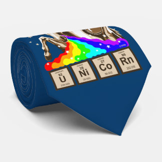 Chemistry unicorn vomits rainbow tie