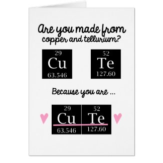 Chemistry Valentines Day Card