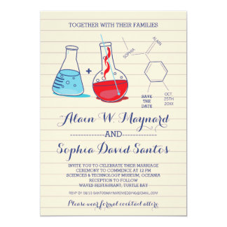 Chemistry Wedding Invitations