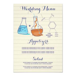 Chemistry Wedding Menu Cards