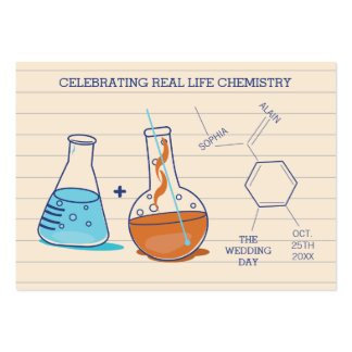 Chemistry Wedding Place Cards Large Business Card