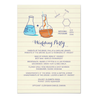 "Chemistry Wedding Programs 5"" X 7"" Invitation Card"