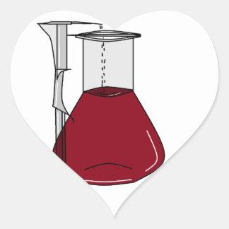 Chemists Chemistry Beakers Test Tubes Solutions Heart Sticker