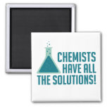 Chemists Have All The Solutions 2 Inch Square Magnet