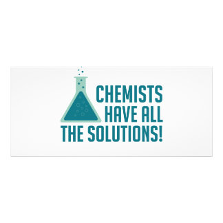 Chemists Have All The Solutions Rack Card
