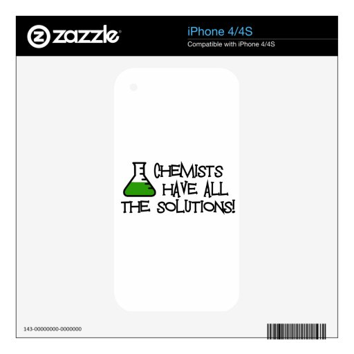 Chemists Have All The Solutions Skins For iPhone 4