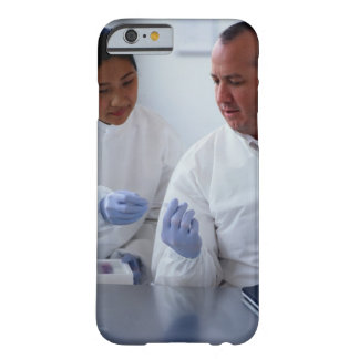 Chemists Looking at a Glass Slide Together iPhone 6 Case