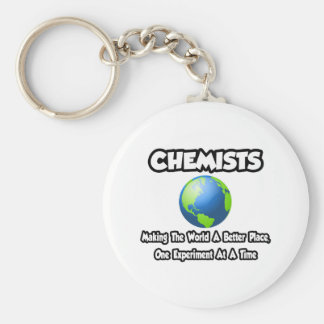 Chemists...Making the World a Better Place Basic Round Button Keychain