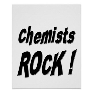 Chemists Rock! Poster Print