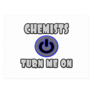 Chemists Turn Me On Post Card