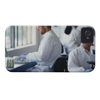Chemists Working in a Laboratory iPhone 4 Case-Mate Cases