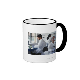 Chemists Working in a Laboratory Ringer Coffee Mug