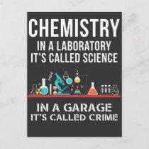 Chemisty Laboratory Science Garage Crime Chemist Postcard