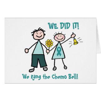Chemo Bell - cáncer de cuello del útero Tarjeta De Felicitación
