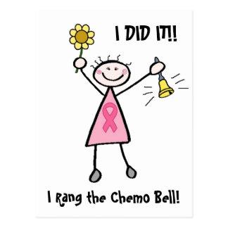 Chemo Bell - cáncer de pecho rosado de la cinta Postales