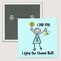Chemo Bell - Cervical Cancer Pinback Button