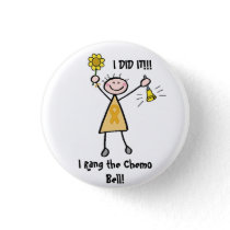 Chemo Bell - Childhood Cancer Gold Ribbon Button