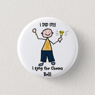 Chemo Bell - Childhood Cancer Gold Ribbon Pinback Button
