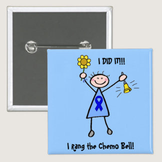 Chemo Bell - Colon Cancer Woman Button