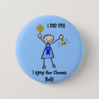 Chemo Bell - Colon Cancer Woman Button