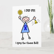 Chemo Bell - Colon Cancer Woman Card