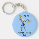 Chemo Bell - Colon Cancer Woman Keychain
