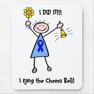 Chemo Bell - Colon Cancer Woman Mouse Pad