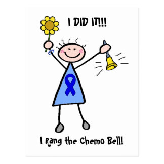 Chemo Bell - Colon Cancer Woman Postcard