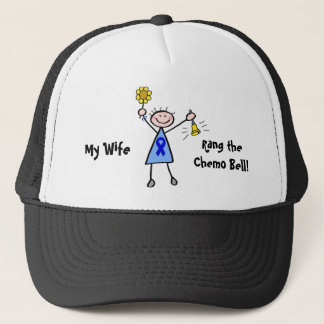 Chemo Bell - Colon Cancer Woman Trucker Hat