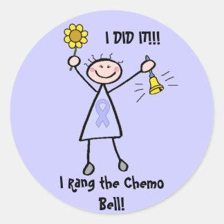 Chemo Bell - general Cancer de la mujer Pegatina Redonda