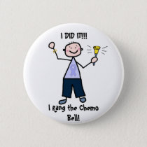 Chemo Bell - General Cancer Male Button