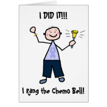 Chemo Bell - General Cancer Male Card