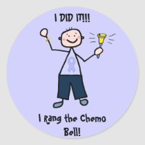 Chemo Bell - General Cancer Male Classic Round Sticker