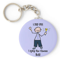 Chemo Bell - General Cancer Male Keychain