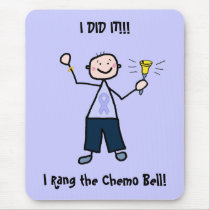 Chemo Bell - General Cancer Male Mouse Pad