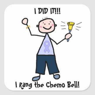 Chemo Bell - General Cancer Male Square Sticker