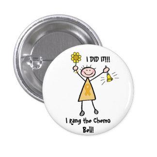 Chemo Bell - hembra de la cinta del oro Pins