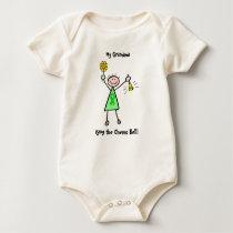 Chemo Bell - Kidney Cancer Green Ribbon Woman Baby Bodysuit